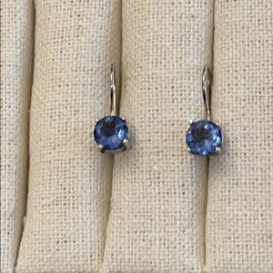 SOLD Tanzanite coloured cubic zirconia earrings